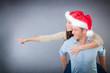 weihnachtspaar mit Textfreiraum