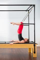 Aerobics pilates instructor woman in cadillac
