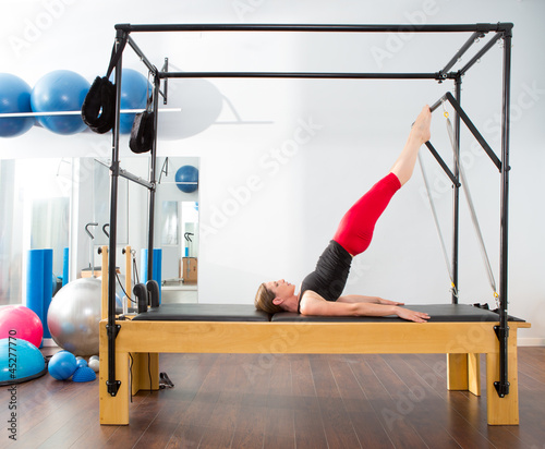 Aerobics pilates instructor woman in cadillac