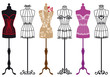 fashion mannequins, vector set - 45278531