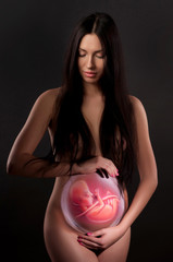 body painting of a pregnant woman