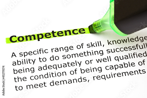 Competence highlighted in green