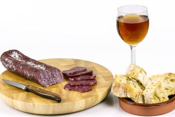 Iberian sausage table
