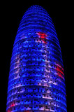 Torre Agbar in Barcelona, Spain
