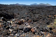 La Palma volcanic lava black stones