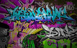 Graffiti wall urban art background