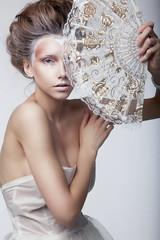 Beauty woman in rertro dress. Retro vintage style, renaissance