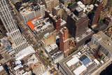 Downtown City Street Birds Eye View New York - 45284309