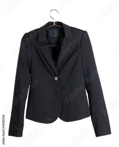 Women's black classic jacket - 45285526