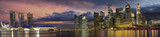 Fototapety Singapore City Skyline at Sunset Panorama