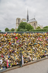 Padlocks on Pont de Archeveche in Paris