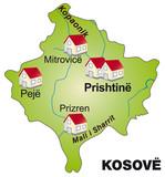Internetmap of  Kosovo poster