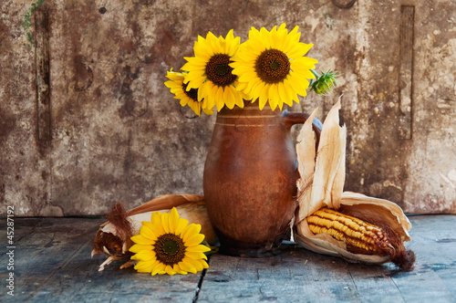 Autumn still life on table