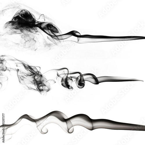 black smoke collection on white background