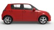 Modern Compact Car Red 3