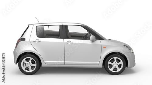 Modern Compact Car Chrome Side 2
