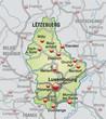 Autobahnkarte von Luxembourg mit Nachbarländern