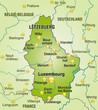 Übersichtskarte von Luxembourg mit Nachbarländern