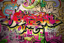 Contexte Graffiti Art Vecteur