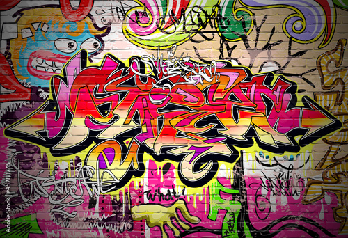 Poster Graffiti Art Vector Background