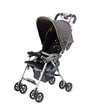 Baby pram carriage on white