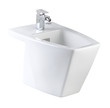 White ceramic urinate bowl isolated