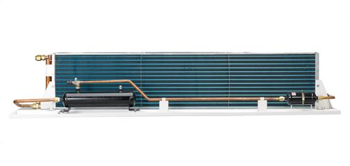 Radiator unit air condition inside housing isolates