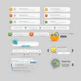 Website design template  menu elements with icons