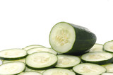 slices green cucumber