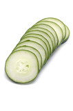 cucumber cut by segments