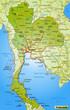 Verkehrskarte von Thailand und Umgebung