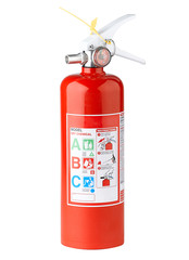 Fire extinguisher where safety come first isolates