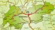 Autobahnkarte von Tirol mit Nachbarländern