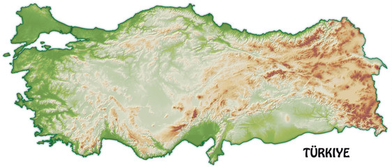 Schummerungskarte der Türkei