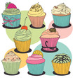 Cupcake color set