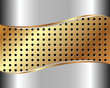 Background with metal grid 4