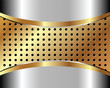 Background with metal grid 3