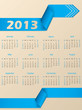 2013 calendar with blue arrow ribbon