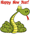 Snake Cartoon Character With Text