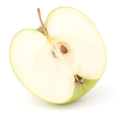 green apple half
