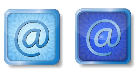 blue radial e-mail icon