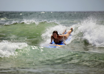 Woman-surfer