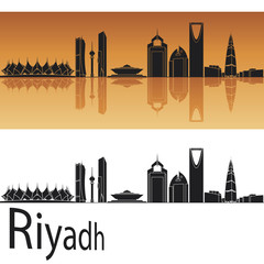 Riyadh skyline in orange background