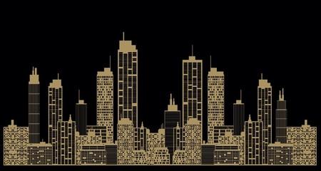 Golden city background
