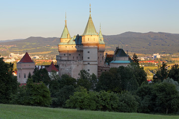 Bojnice castle at sunset - Slovakia