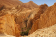 Panoramic view of the Chebika oasis in the desert of Tunisia