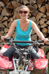 Young lady on ATV