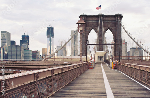 Brooklyn Bridge in New York City.