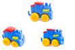Set. Toy a plastic nursery, a steam locomotive of bright shades.