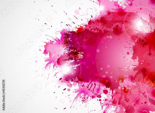 Abstract artistic Background forming by blots - 45302701